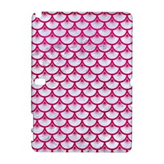 Scales3 White Marble & Pink Leather (r) Galaxy Note 1 by trendistuff