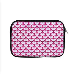Scales3 White Marble & Pink Leather (r) Apple Macbook Pro 15  Zipper Case by trendistuff