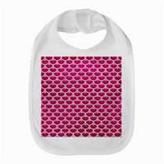 Scales3 White Marble & Pink Leather Bib