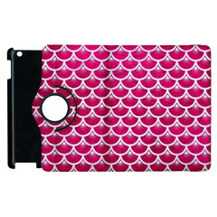 Scales3 White Marble & Pink Leather Apple Ipad 2 Flip 360 Case