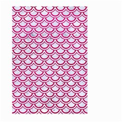 Scales2 White Marble & Pink Leather (r) Large Garden Flag (two Sides) by trendistuff
