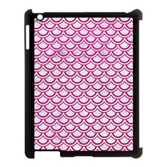 Scales2 White Marble & Pink Leather (r) Apple Ipad 3/4 Case (black)