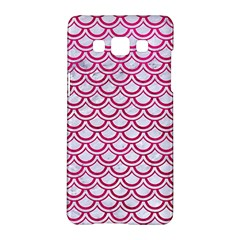 Scales2 White Marble & Pink Leather (r) Samsung Galaxy A5 Hardshell Case