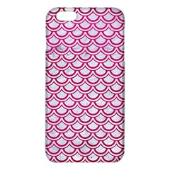Scales2 White Marble & Pink Leather (r) Iphone 6 Plus/6s Plus Tpu Case