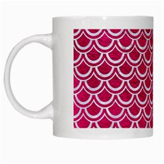 Scales2 White Marble & Pink Leather White Mugs