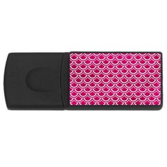 Scales2 White Marble & Pink Leather Rectangular Usb Flash Drive