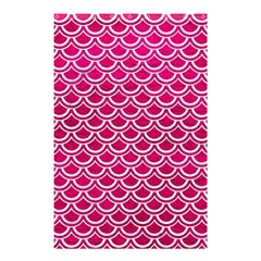 Scales2 White Marble & Pink Leather Shower Curtain 48  X 72  (small)