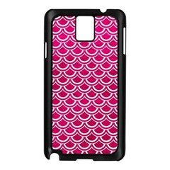 Scales2 White Marble & Pink Leather Samsung Galaxy Note 3 N9005 Case (black)