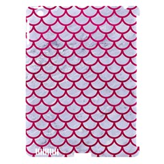 Scales1 White Marble & Pink Leather (r) Apple Ipad 3/4 Hardshell Case (compatible With Smart Cover)