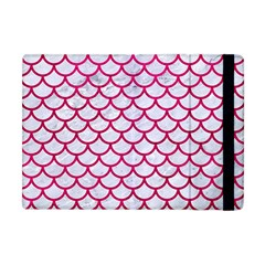 Scales1 White Marble & Pink Leather (r) Apple Ipad Mini Flip Case by trendistuff