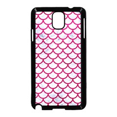 Scales1 White Marble & Pink Leather (r) Samsung Galaxy Note 3 Neo Hardshell Case (black) by trendistuff