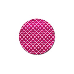 Scales1 White Marble & Pink Leather Golf Ball Marker (4 Pack)