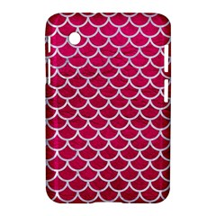 Scales1 White Marble & Pink Leather Samsung Galaxy Tab 2 (7 ) P3100 Hardshell Case