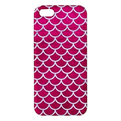 Scales1 White Marble & Pink Leather Iphone 5s/ Se Premium Hardshell Case