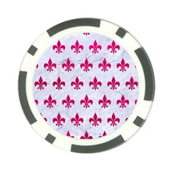 Royal1 White Marble & Pink Leather Poker Chip Card Guard (10 Pack)