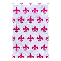 Royal1 White Marble & Pink Leather Shower Curtain 48  X 72  (small)  by trendistuff
