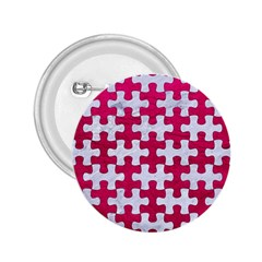 Puzzle1 White Marble & Pink Leather 2 25  Buttons