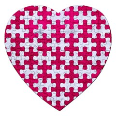 Puzzle1 White Marble & Pink Leather Jigsaw Puzzle (heart)