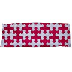 Puzzle1 White Marble & Pink Leather Body Pillow Case (dakimakura)