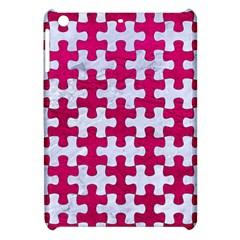 Puzzle1 White Marble & Pink Leather Apple Ipad Mini Hardshell Case