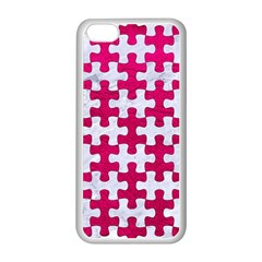 Puzzle1 White Marble & Pink Leather Apple Iphone 5c Seamless Case (white)