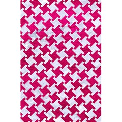 Houndstooth2 White Marble & Pink Leather 5 5  X 8 5  Notebooks