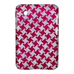 Houndstooth2 White Marble & Pink Leather Samsung Galaxy Tab 2 (7 ) P3100 Hardshell Case  by trendistuff