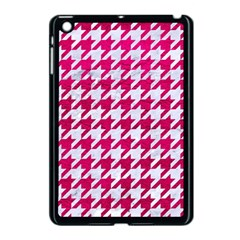 Houndstooth1 White Marble & Pink Leather Apple Ipad Mini Case (black) by trendistuff
