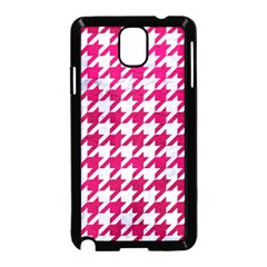 Houndstooth1 White Marble & Pink Leather Samsung Galaxy Note 3 Neo Hardshell Case (black)