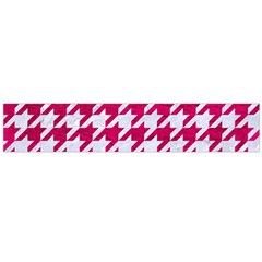 Houndstooth1 White Marble & Pink Leather Large Flano Scarf