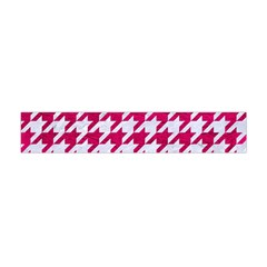 Houndstooth1 White Marble & Pink Leather Flano Scarf (mini)