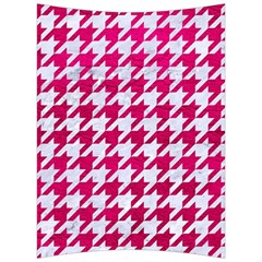 Houndstooth1 White Marble & Pink Leather Back Support Cushion