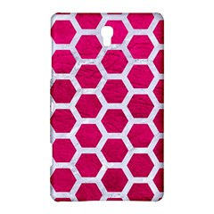 Hexagon2 White Marble & Pink Leather Samsung Galaxy Tab S (8 4 ) Hardshell Case  by trendistuff