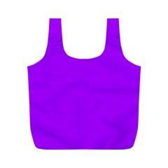 Light Purple Dots Pattern Full Print Recycle Bags (m)
