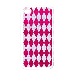 Diamond1 White Marble & Pink Leather Apple Iphone 4 Case (white)
