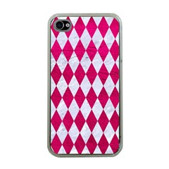 Diamond1 White Marble & Pink Leather Apple Iphone 4 Case (clear) by trendistuff