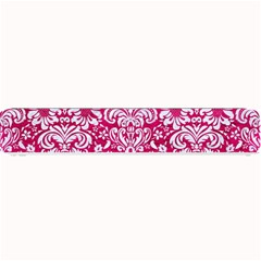 Damask2 White Marble & Pink Leather Small Bar Mats