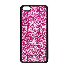 Damask2 White Marble & Pink Leather Apple Iphone 5c Seamless Case (black)