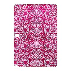 Damask2 White Marble & Pink Leather Samsung Galaxy Tab Pro 10 1 Hardshell Case