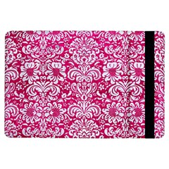 Damask2 White Marble & Pink Leather Ipad Air Flip