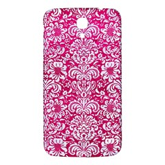 Damask2 White Marble & Pink Leather Samsung Galaxy Mega I9200 Hardshell Back Case