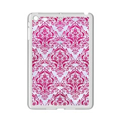 Damask1 White Marble & Pink Leather (r) Ipad Mini 2 Enamel Coated Cases by trendistuff
