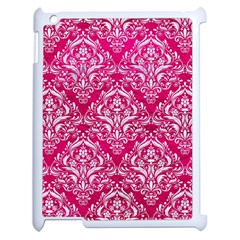Damask1 White Marble & Pink Leather Apple Ipad 2 Case (white) by trendistuff