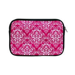 Damask1 White Marble & Pink Leather Apple Ipad Mini Zipper Cases by trendistuff