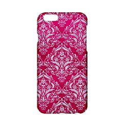 Damask1 White Marble & Pink Leather Apple Iphone 6/6s Hardshell Case
