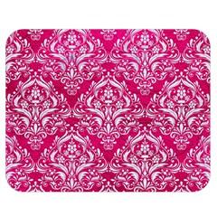 Damask1 White Marble & Pink Leather Double Sided Flano Blanket (medium)