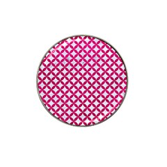 Circles3 White Marble & Pink Leather (r) Hat Clip Ball Marker (4 Pack) by trendistuff