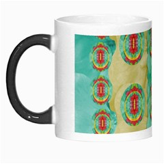 Peace Will Be In Fantasy Flowers With Love Morph Mugs