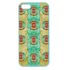 Peace Will Be In Fantasy Flowers With Love Apple Seamless Iphone 5 Case (color) by pepitasart