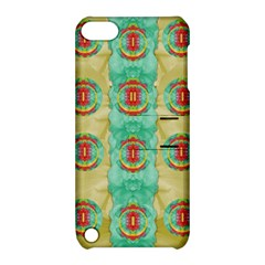 Peace Will Be In Fantasy Flowers With Love Apple Ipod Touch 5 Hardshell Case With Stand